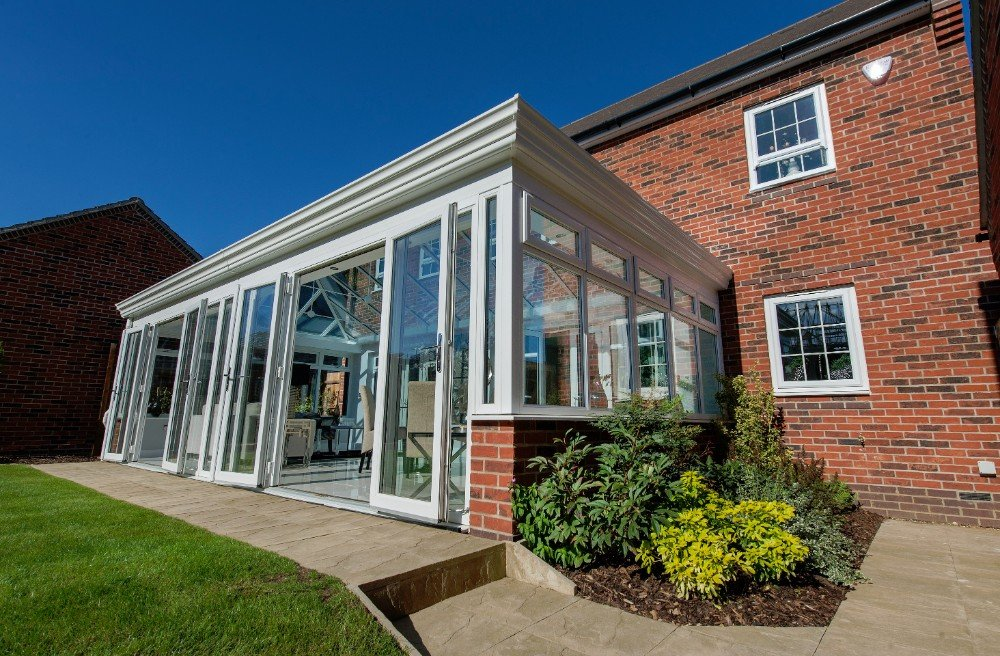 Orangeries by britannia windows for French doors both open
