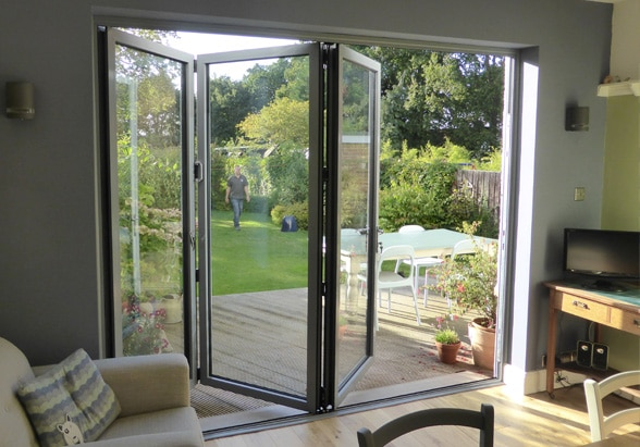 image of folding doors